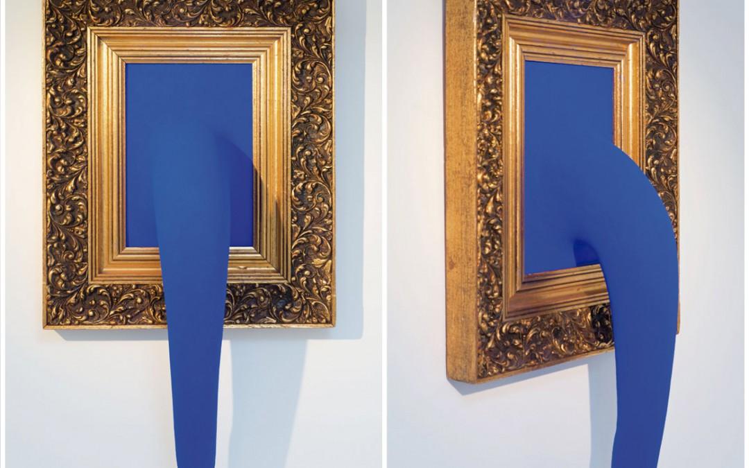 """""""Trunk"""", marco, madera, acrílico y pigmento, 77x45x19 cm. Carlos Nicanor, 2011"""