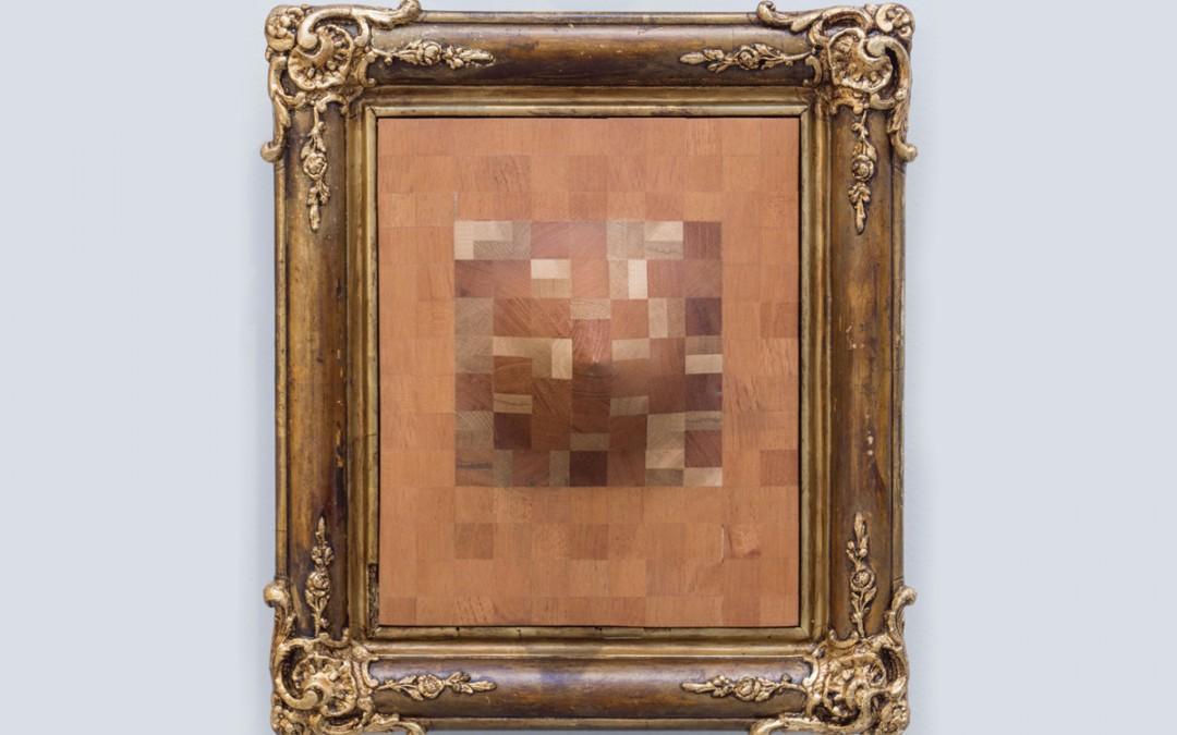 """""""El retraso de Felipe V"""", madera y marco, 40x35x19 cm. Carlos Nicanor, 2016"""