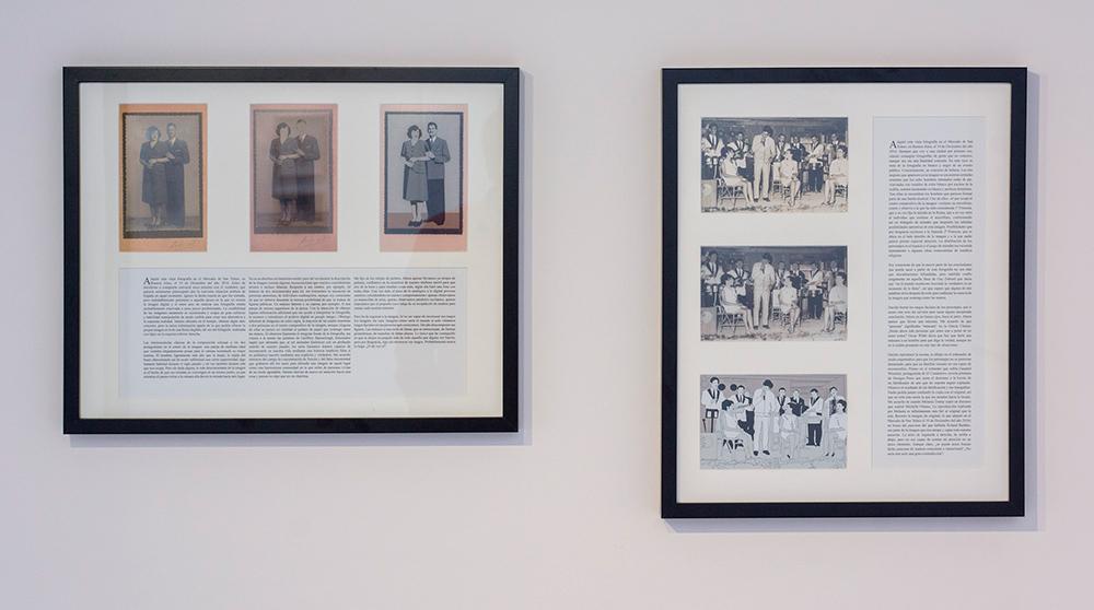 """""""Escarbar la imagen (I y II)"""", fotografía analógica, fotografía digital manipulada, ilustración digital, texto, 50 x 40 cm 40 x 50 cm. Marla Jacarilla, 2017"""