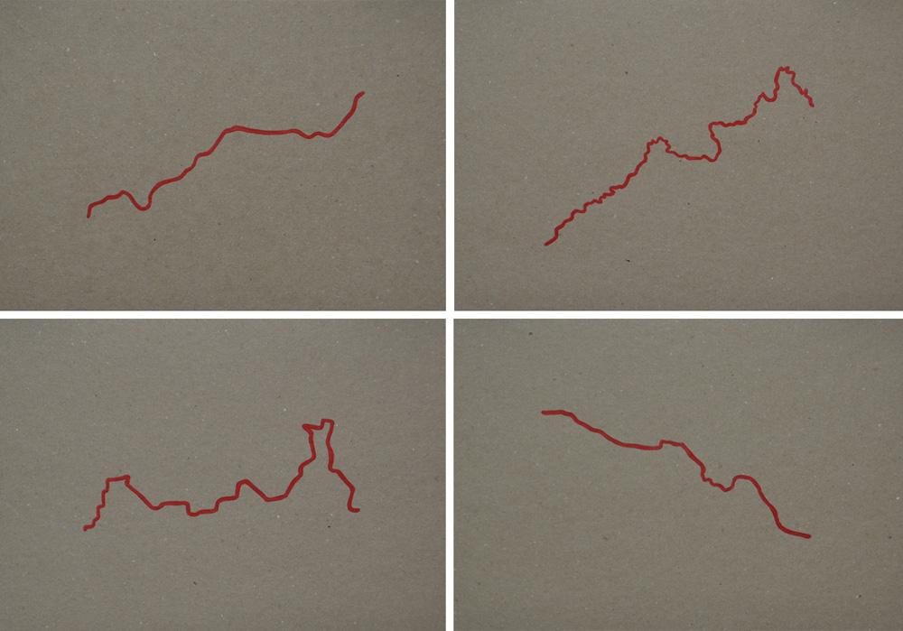 """Fronteras de Sangre"": acrílico sobre papel, 29,7x21 cm. Rosalía Banet, 2014"