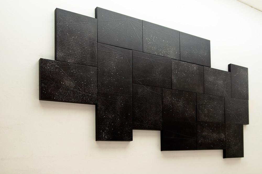 """""""Consideraciones"""", monotipo y gofrado sobre papel, 130x220 cm. Salim Malla, 2014"""