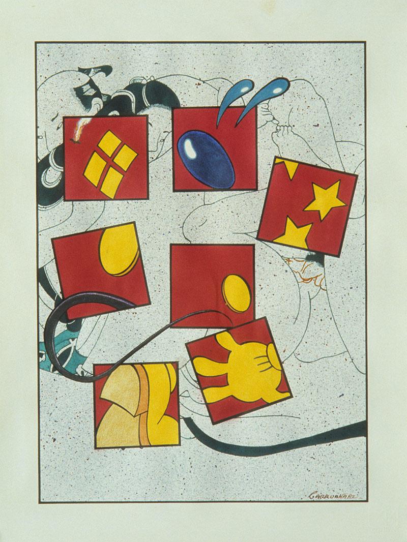 S/T, técnica mixta sobre cartulina, 43 x 33 cm. Jorge Carruana Bances, 1982