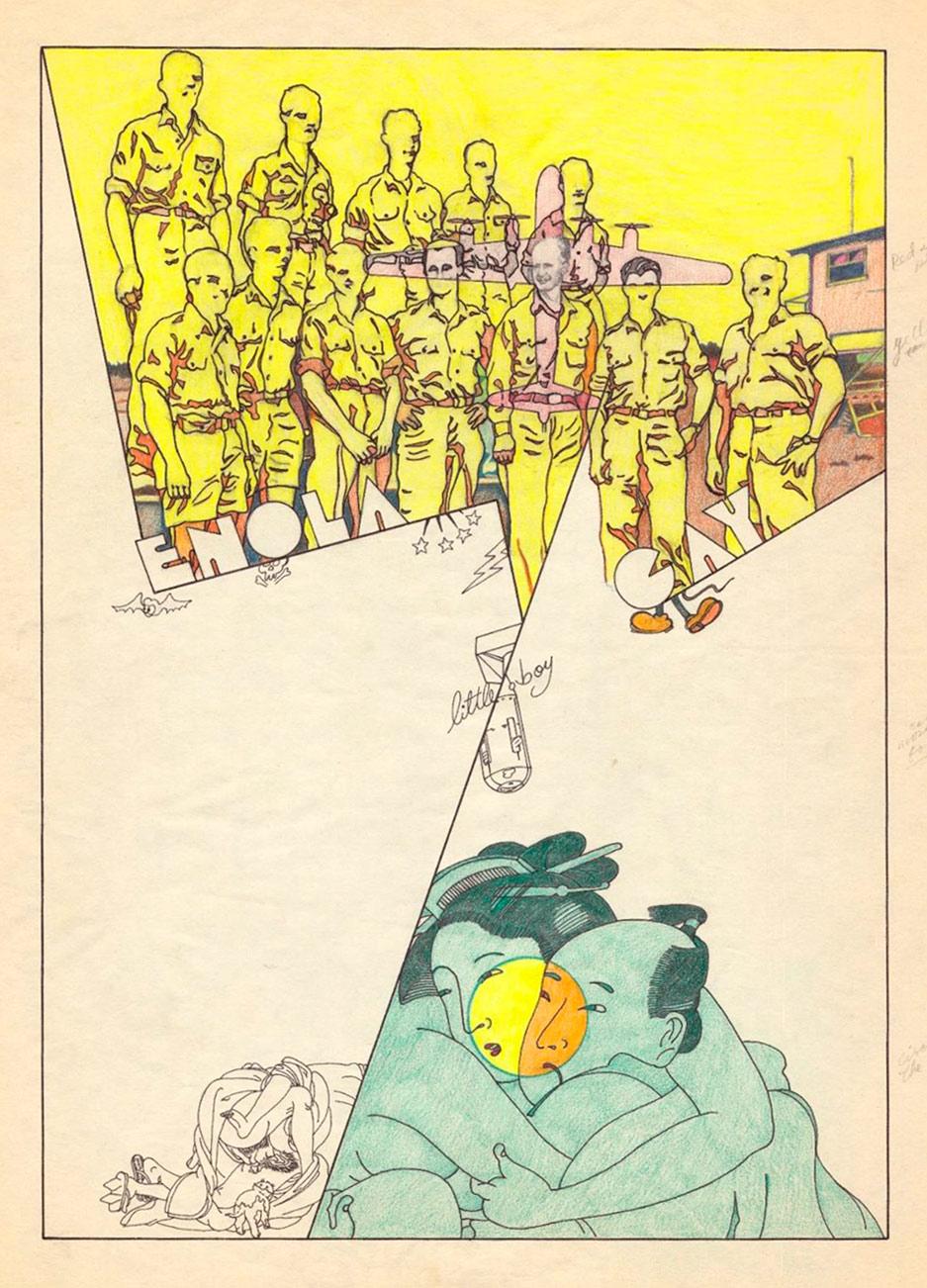 S/T, técnica mixta sobre papel, 43 x 33 cm. Jorge Carruana Bances, 1983