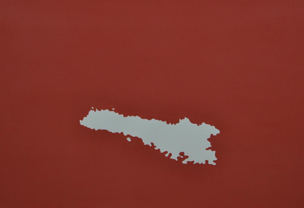 """Fronteras de Sangre: Lampedusa"", acrílico sobre papel, 50x70 cm. Rosalía Banet, 2014"