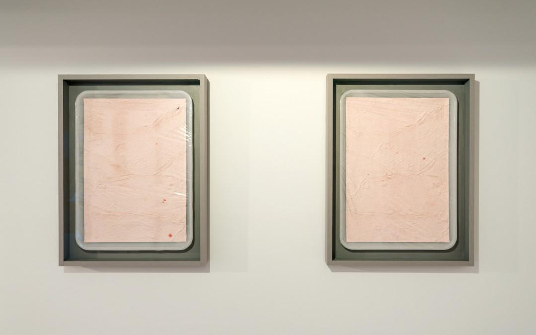 """""""Manufacturing the self"""", impresión inkjet sobre piel de Gesso acrílico 37x47x5 cm. Manuel Franquelo Giner, 2016"""