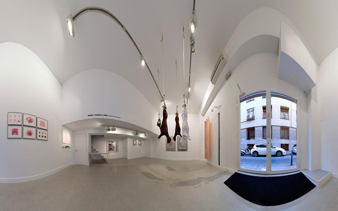 "Vista panorámica de la sala en ""Biolencia hepidé®mica"", Manuel Franquelo Giner, 2016"