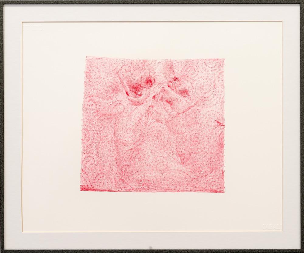 """In vitro #5"", dibujo a boligráfo bic rojo sobre papel caballo 109, 30x42 cm. Manuel Franquelo Giner, 2016"