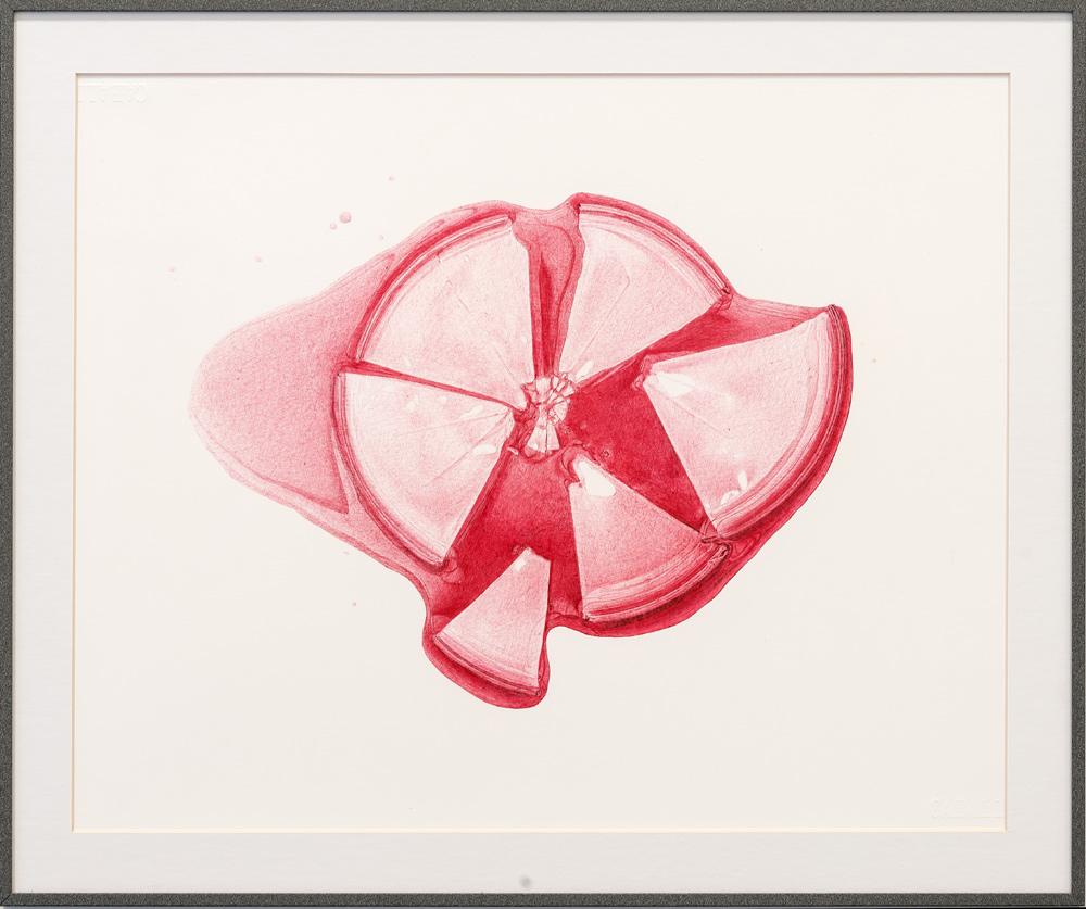 """In vitro #2"", dibujo a boligráfo bic rojo sobre papel caballo 109, 30x42 cm. Manuel Franquelo Giner, 2016"