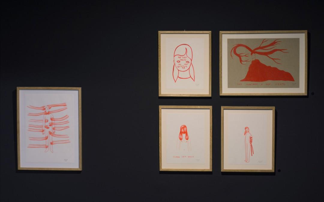 """Dibujos de """"Sangre"""", acrílico y lápiz sobre papel, medidas variables. Rosalia Banet, 2015"""