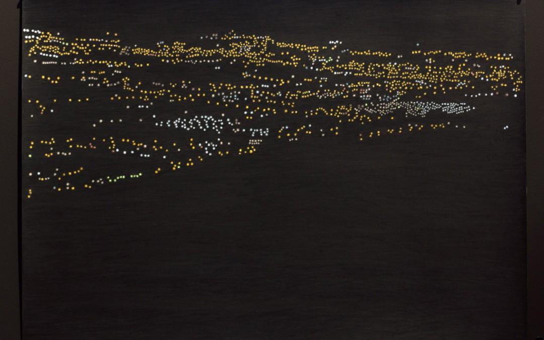 """""""Constelación humana 224 (Benidorm)"""", lápiz sobre papel, 29,5x41,5 cm. Rosalía Banet, 2015"""
