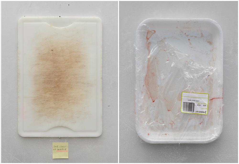 """""""The Promise"""" """"Sacrifice"""", impresión inkjet sobre papel canson, montado en panel de aluminio, 130x95 cm. Manuel Franquelo Giner, 2014"""