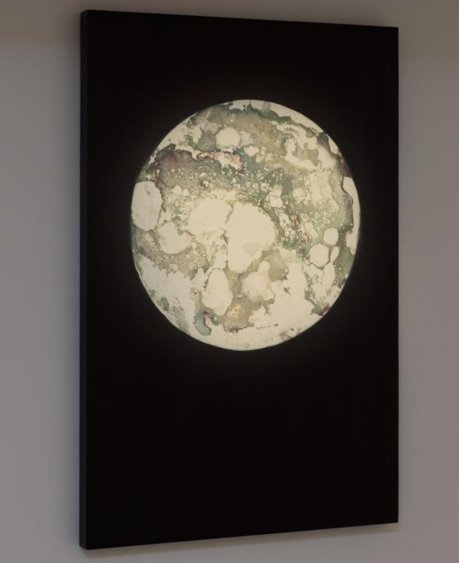 """""""Relatos verídicos"""", monotipo montado sobre tabla, 70x50 cm. Salim Malla, 2014"""