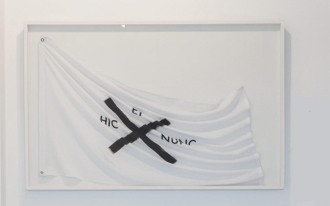 S/T, acrílico sobre tela, vitrina, 110x166 cm. Tito Pérez Mora, 2015