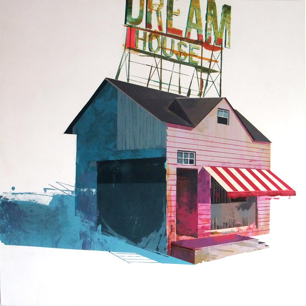 """Dream House 01"", acrílico sobre lienzo, 110x110 cm. Yani Alonso, 2007"