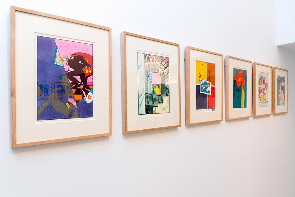 S/T, técnica mixta sobre cartulina, 43 x 33 cm c/u. Jorge Carruana Bances, 1982-1984
