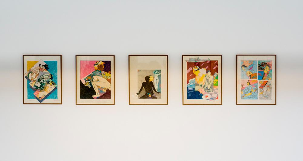 S/T, técnica mixta sobre papel, 27 x 21 cm c/u. Jorge Carruana Bances 1983-1986