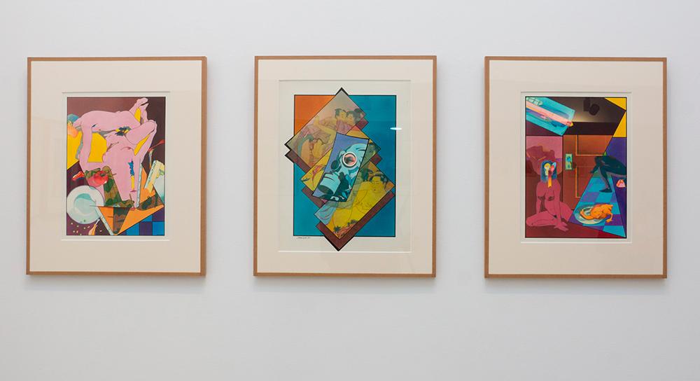 S/T, técnica mixta sobre cartulina, 43 x 33 cm c/u. Jorge Carruana Bances, 1983-1984