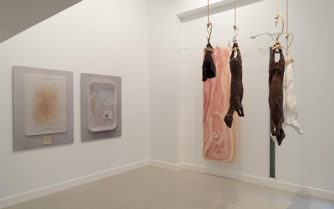 """Vista de la sala en """"Biolencia hepidé®mica"""", Manuel Franquelo Giner, 2016"""