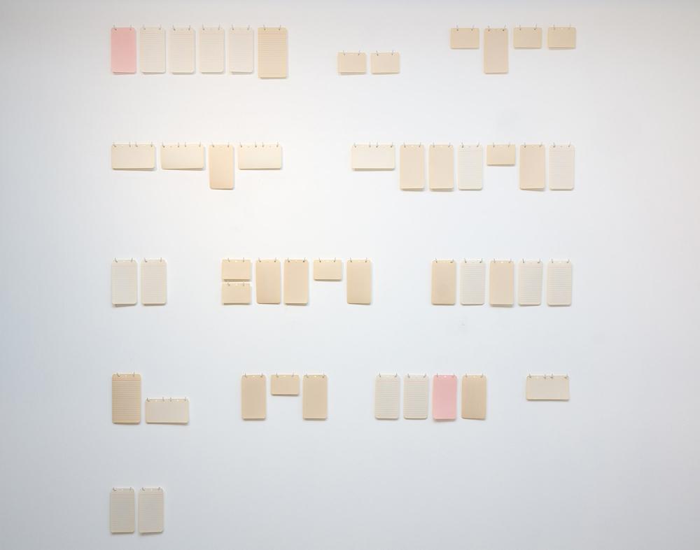 """""""Futuro compuesto"""", instalación: composición de papeles, 150x150 cm. Theo Firmo, 2014"""