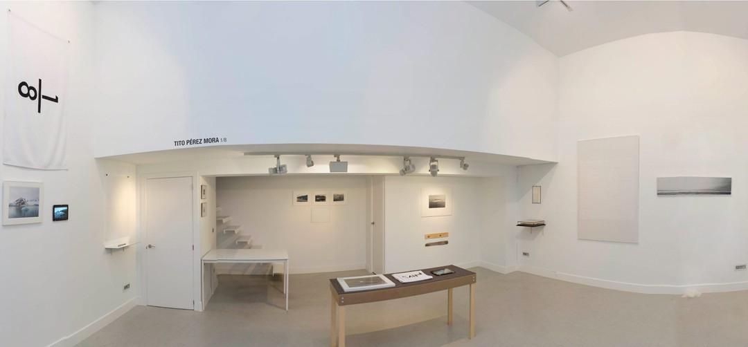 """Vista panorámica de la sala, exposición """"1/8"""", Tito Pérez Mora, 2016"""