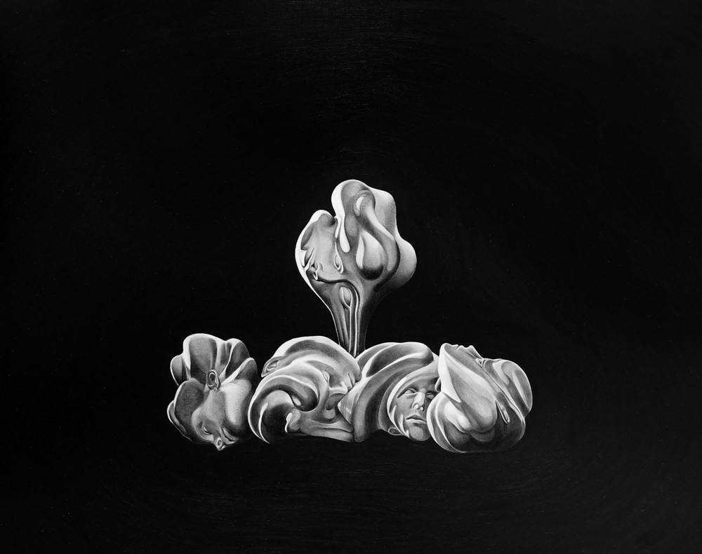 """""""Sin título (monstruos)"""", óleo sobre papel, 50x70 cm. Marina Núñez, 2011"""