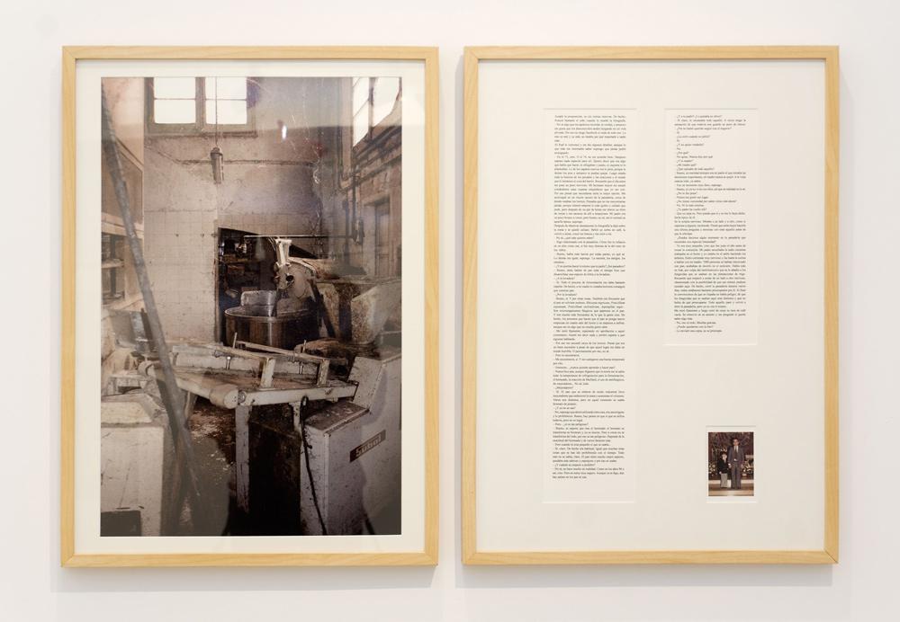 """""""Saccharomyces Cerevisiae"""", fotografía y texto. Giclée sobre papel baritado. Dos piezas de 70x50 cm. Marla Jacarilla, 2012"""