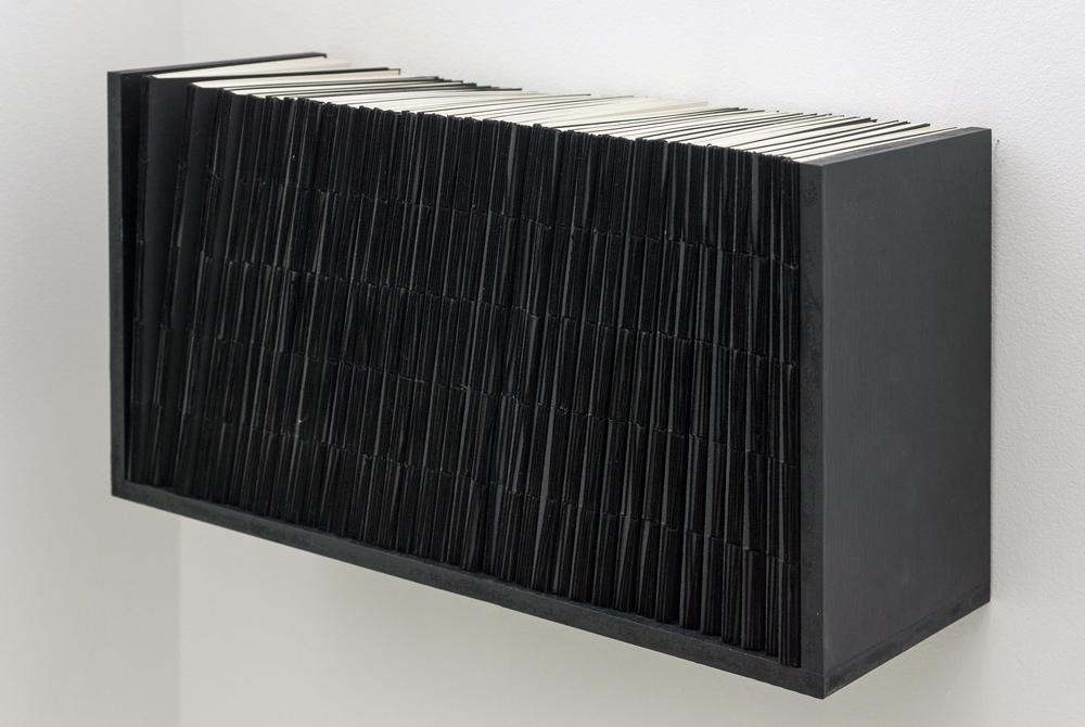 """Apropiación de principios"", 38 libros, estantería, 22,5x41x15,5 cm. Marla Jacarilla, 2011"