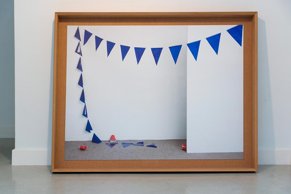 """""""Tropical Ornament 05"""", tintas pigmentadas sobre papel fotográfico, 115x145 cm. Julio Galeote, 2015"""