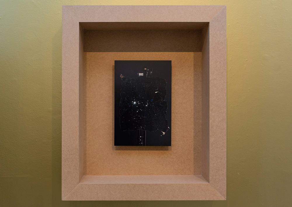 """""""Tropical Ornament 06"""", tintas pigmentadas sobre papel fotográfico, 86x74 cm. Julio Galeote, 2015"""