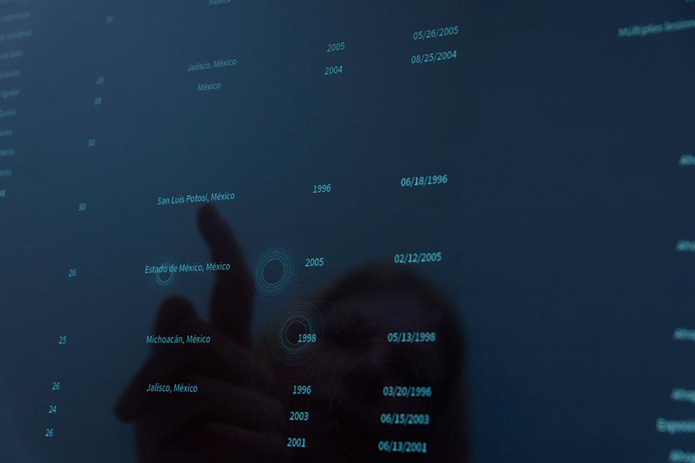 """2487"", instalación sonora (versión estéreo para exhibición), duración variable. Luz María Sánchez, 2006"