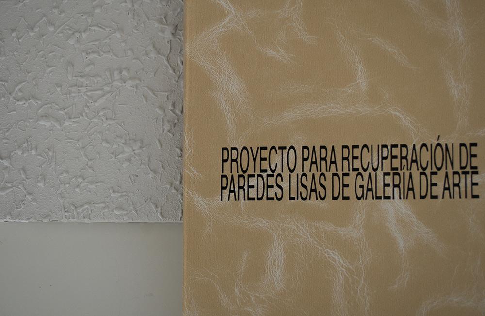 """""""Proyecto para recuperación de paredes lisas de galería de arte"""", libro de artista. Paula García-Masedo y Andrea González, 2017. Un proyecto de Caniche Editorial"""